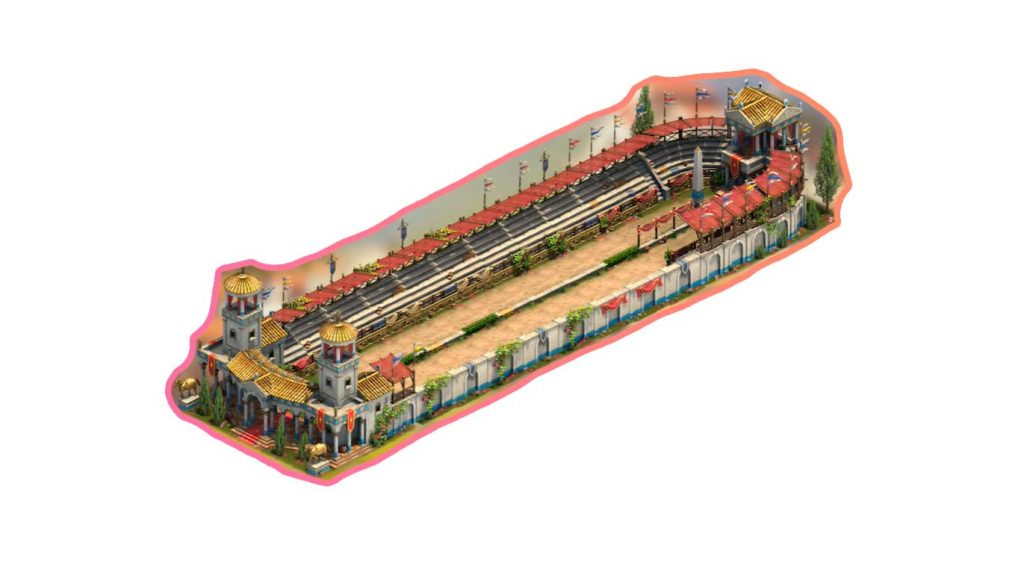 The Hippodrome is an upgradable residential building existing of 2 key parts, with 3 extra optional parts.